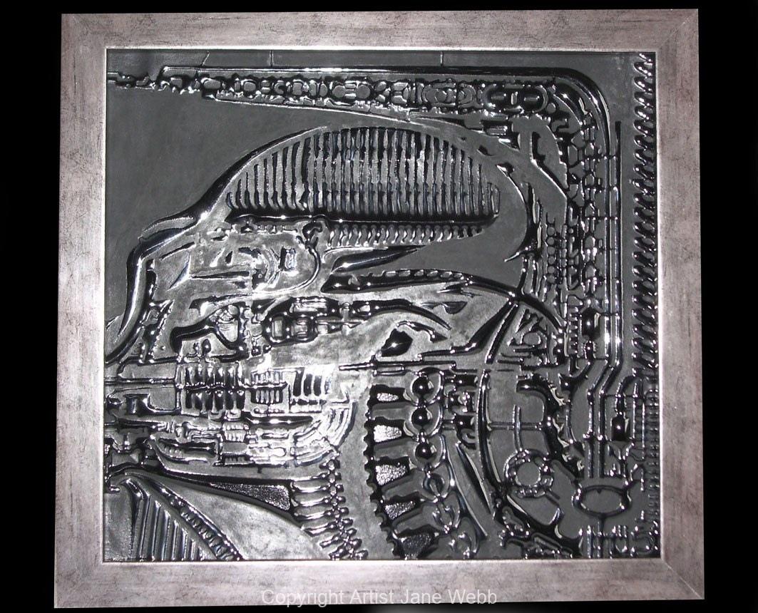 Alien-Giger-glass-art