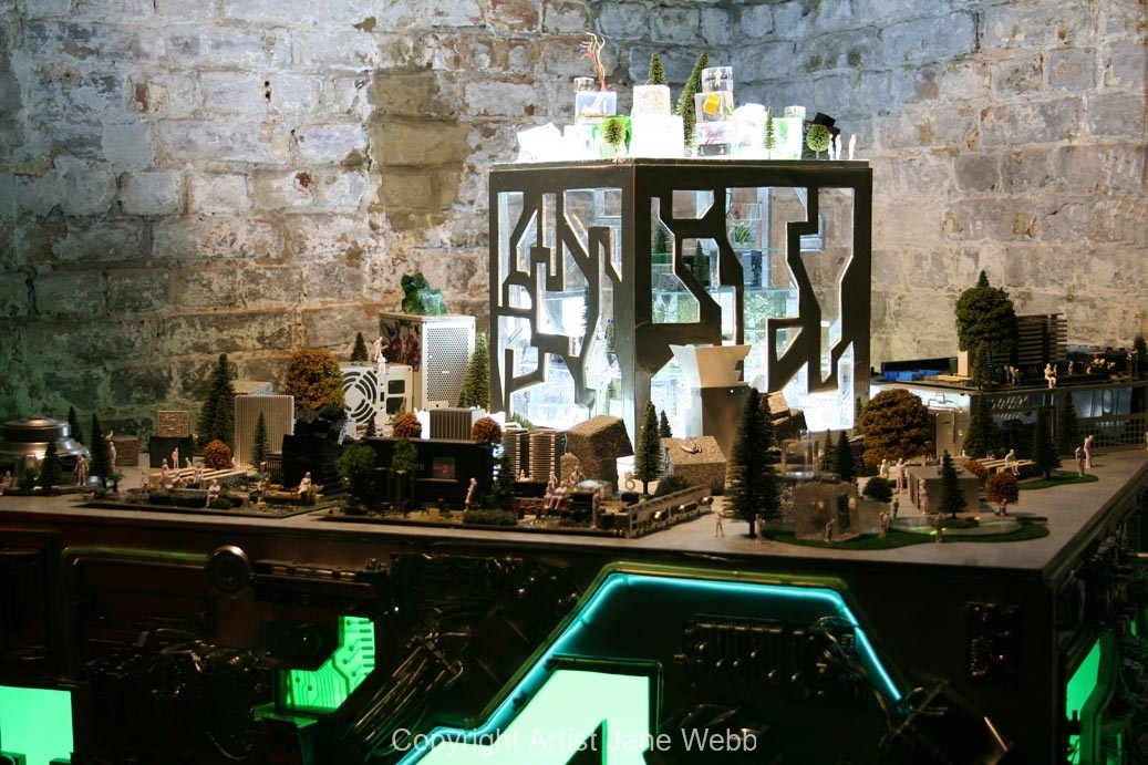 Cyber-City-art-installation-recycled-electronic-waste