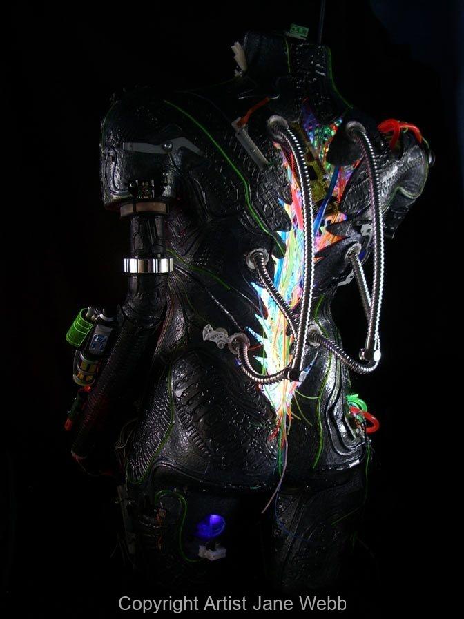 Humaoid-Illuminated-robot-art