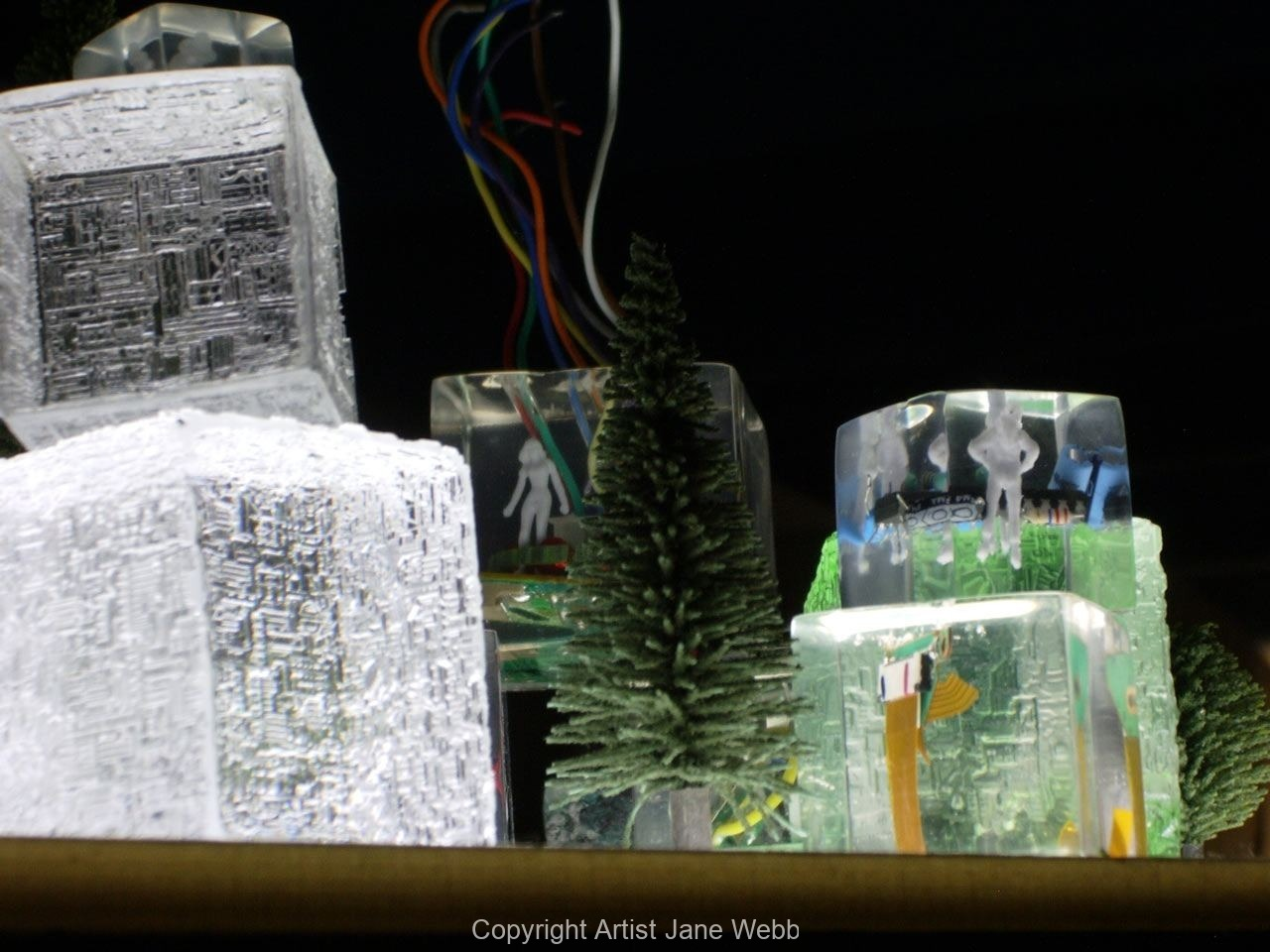 cast-resin-cyber-city-recycled-computers-art-Jane-Webb