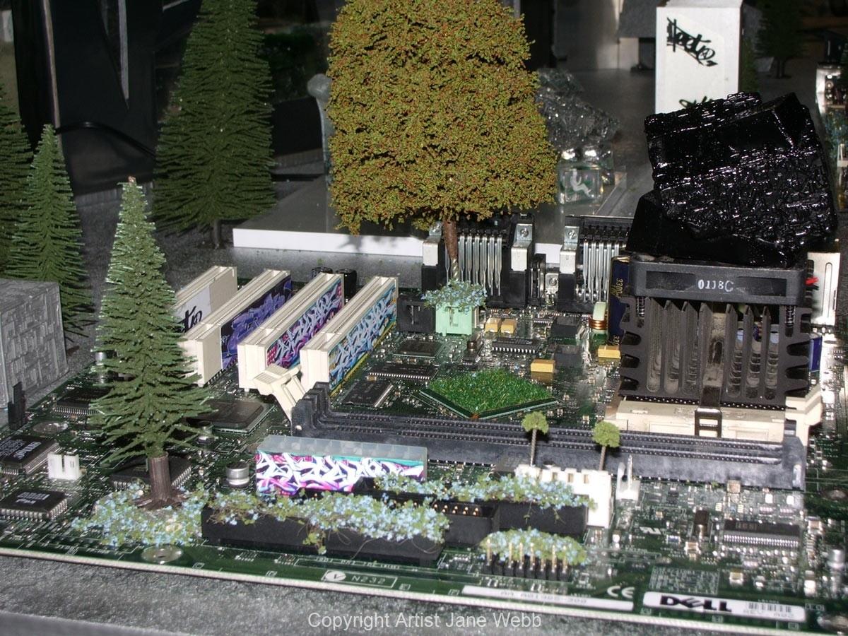 cicuit-board-art-model-city
