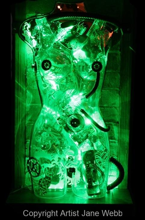 cyborg-female-light-art