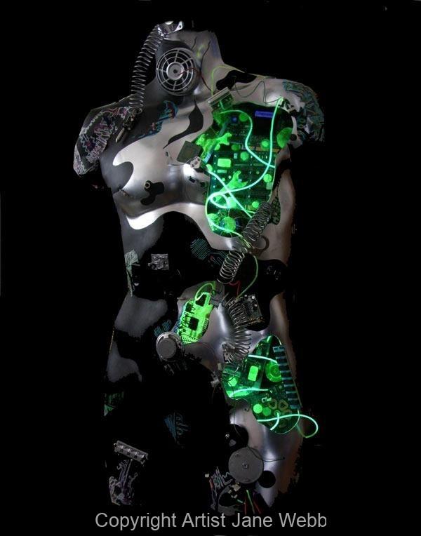 cyborg-male-light-sculpture-robot-art