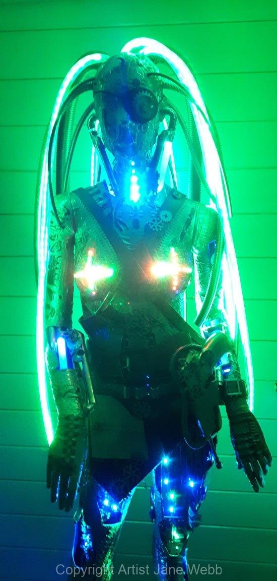 steam-punk-light-sculpture-robot-cyberpunk-Jane-Webb