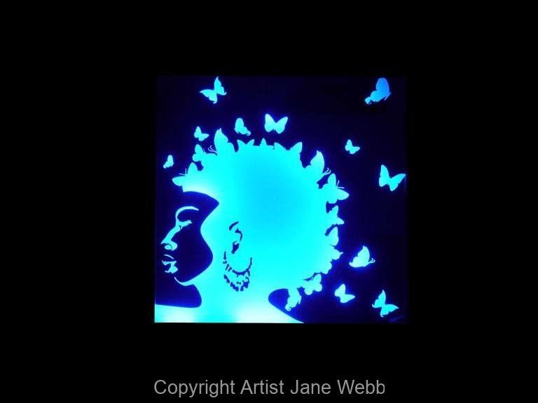 1_afro-woman-illuminated-mirror-art-Jane-Webb