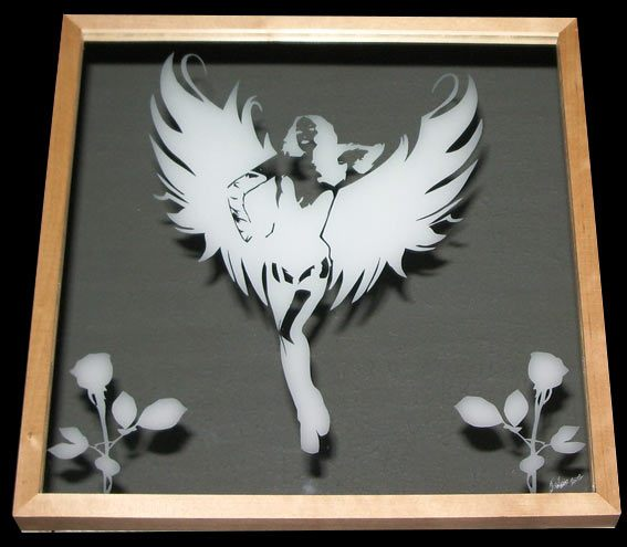 Frosted-art-mirror-custom-hand-made