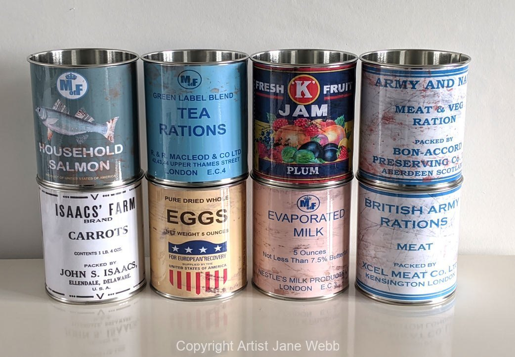 World-War-ration-tin-cans-props-packs