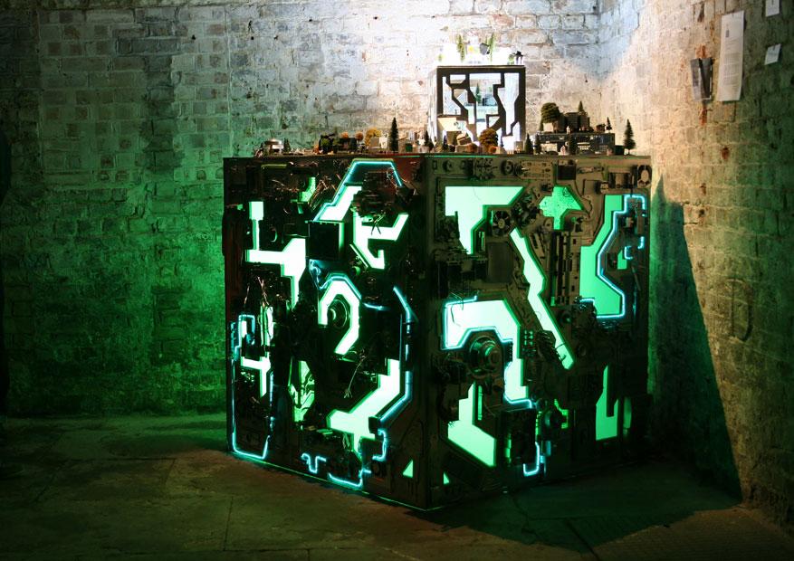 Light art installation by Jane Webb