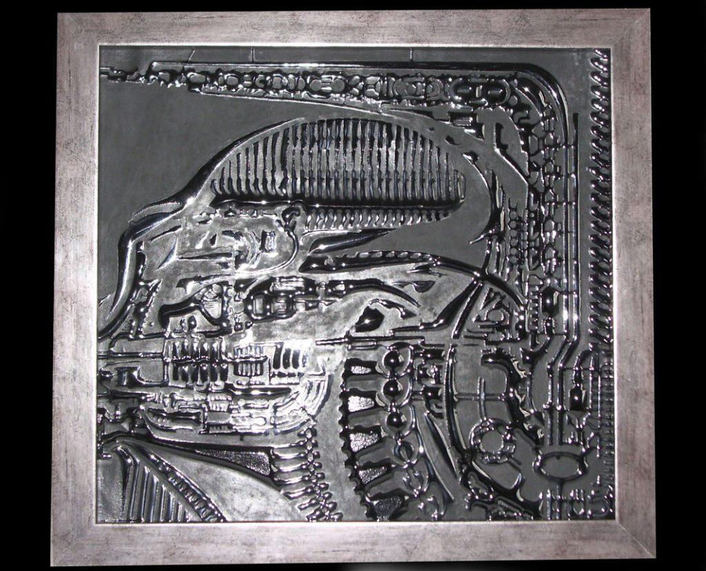 Alien glass cast Giger art style