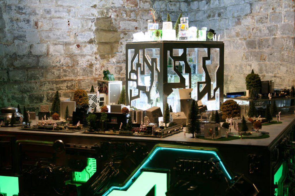 cyber city art installation
