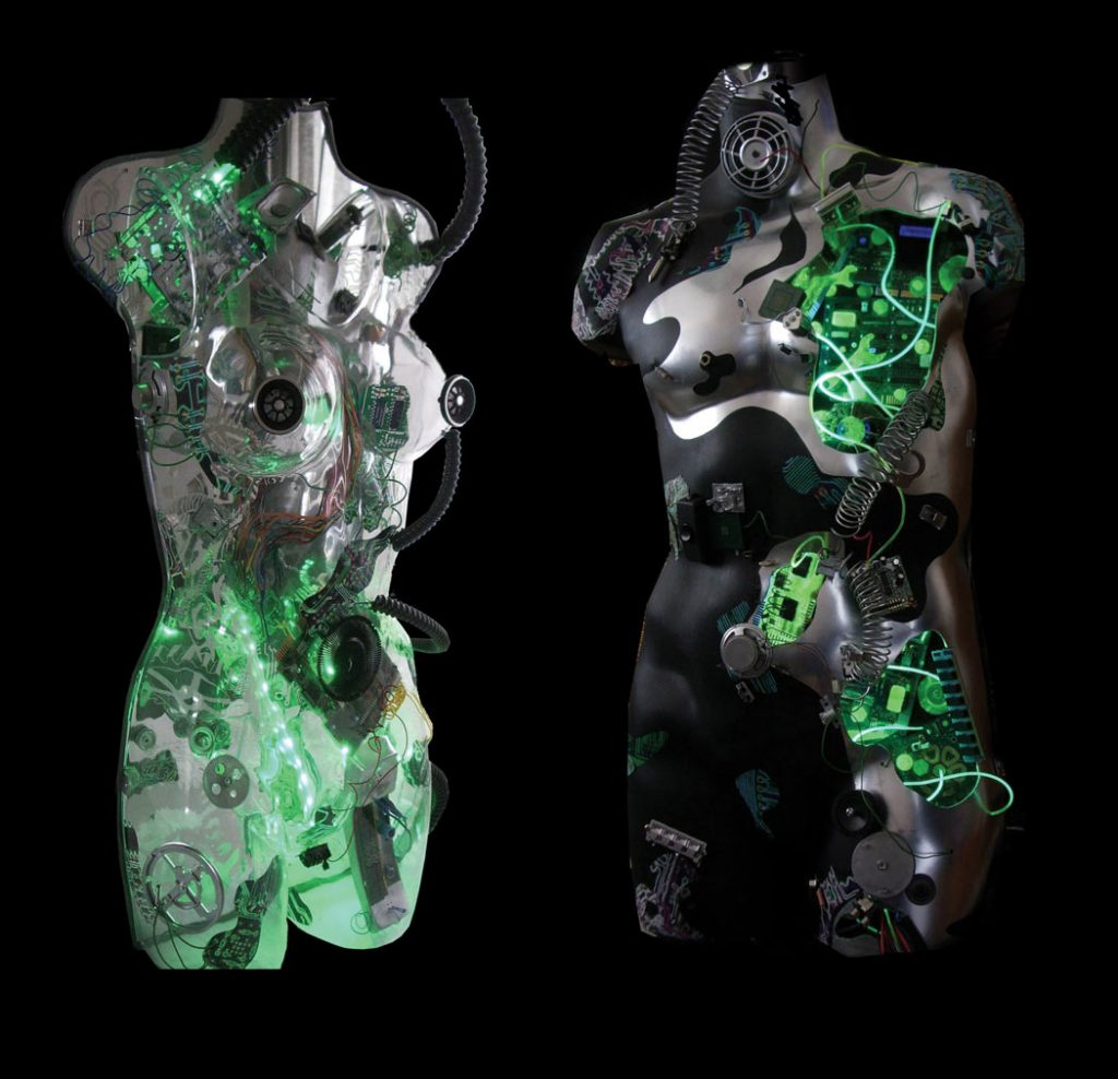 cyborg cybernetic robot art by Jane Webb