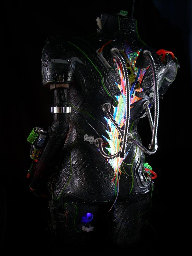illuminated robot art