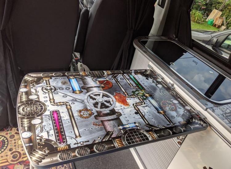 Camper motorhome table custom graphics