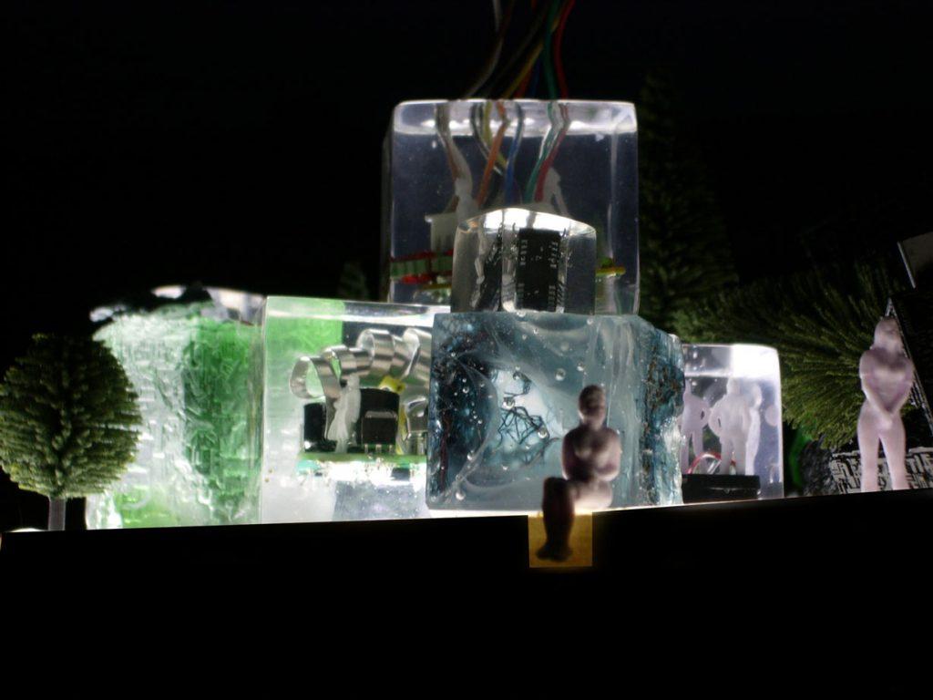 Cast glass illuminated art