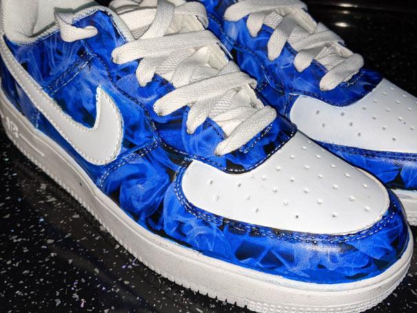 custom painted Nike air force ones