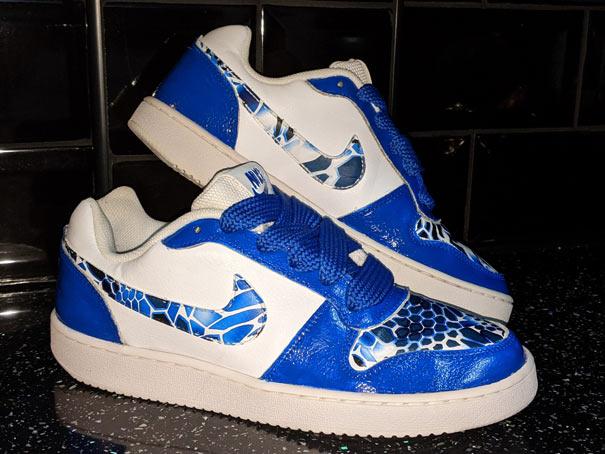 custom painted trainers Nike