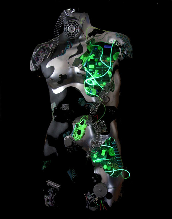 cyborg male art robot