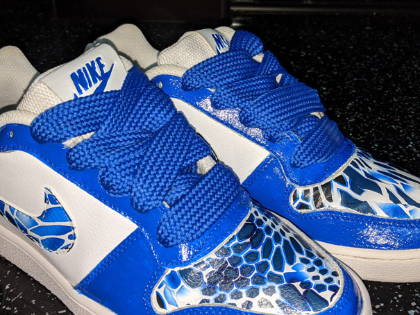 hydro pipped Nike trainers