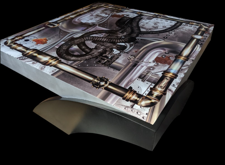 industrial steampunk table