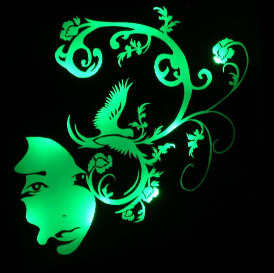 illuminated light feature wall art