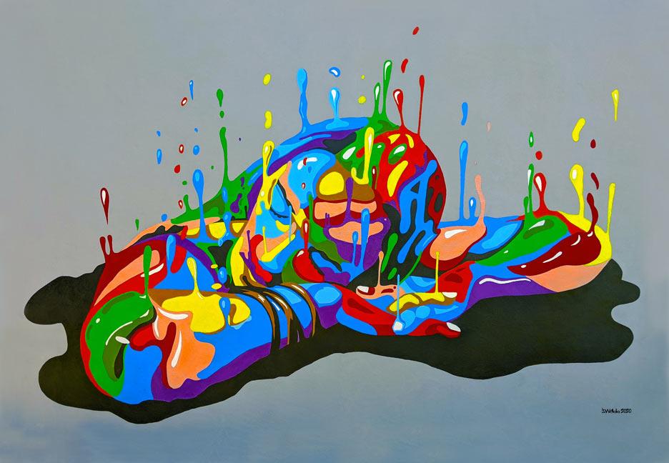 painted wall mural street art by Jane Webb