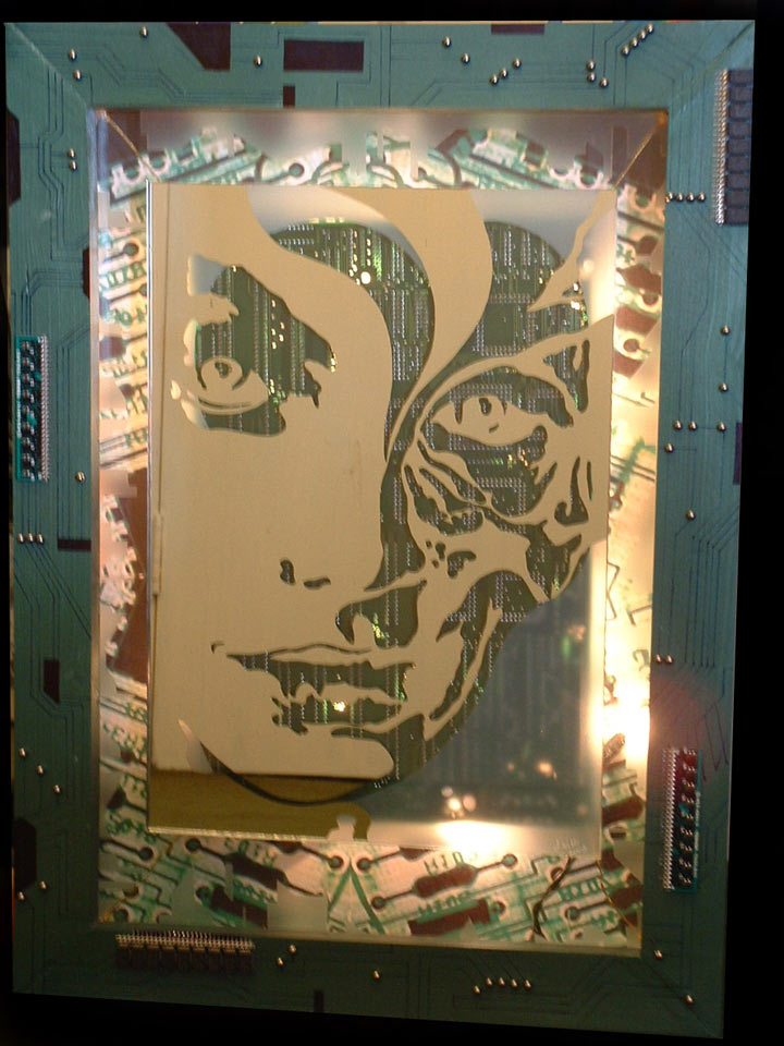recycled art circuit board