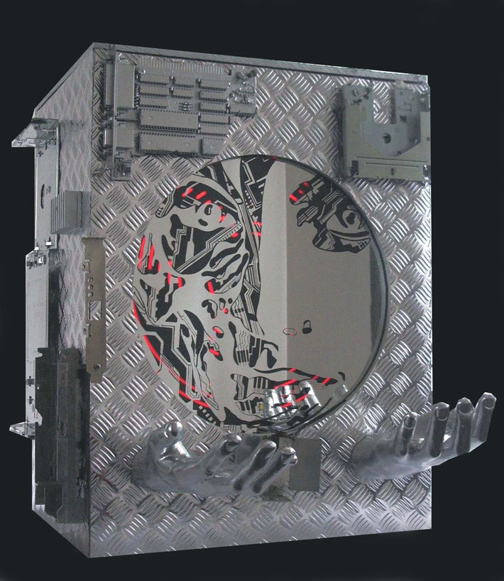 recycled electronic kinetic art
