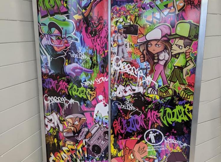 street art graffiti upcycled cabinet furniture